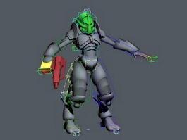 Male Humanoid Alien Rig 3d model