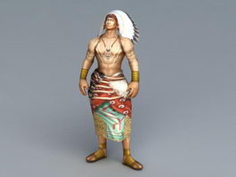 Indian Chief 3d model