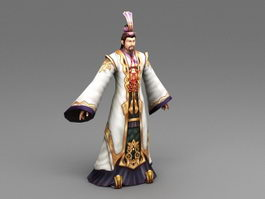 Ancient China Lord 3d model