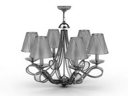 Chandelier with Shades 3d model