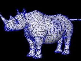 White Rhino 3d model