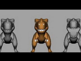 Tyrannosaurus Rex Dinosaur Cartoon 3d model