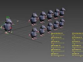 Fat Rat Rig 3d model