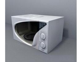 Retro Microwave 3d model