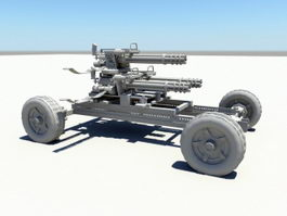 Heavy Gatling Artillery 3d model