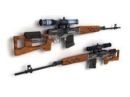 SV-99 Sniper Rifle 3d model