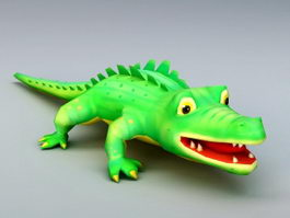 Cute Cartoon Crocodile 3d model