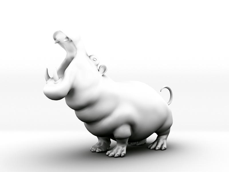 Hippo Statue 3d model - CadNav