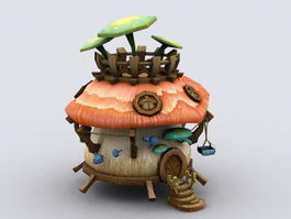 Mushroom Fairy House 3d model