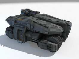 Sci-Fi APC 3d model