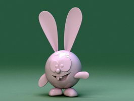 Plastic Toy Rabbit 3d model