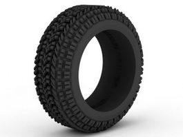 Rubber Tyre 3d model