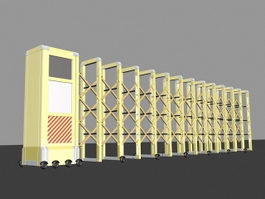 Retractable Electric Gate 3d model