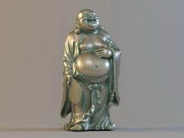 Budai Bronze Buddha 3d model