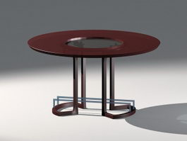 Round Accent Table 3d model