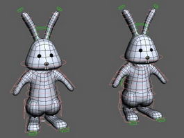 Cartoon Bunny Rabbit Rig 3d model