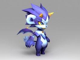 Cute Anime Dragon 3d model