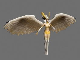 Warrior Guardian Angel 3d model
