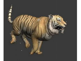 Tiger Running Animation 3d model