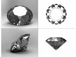 Brilliant Cut Diamond 3d model