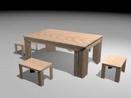 2573f4f3de Dining Tables 3d model free download - cadnav.com