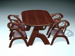 Contemporary Dining Room Table Sets 3d model