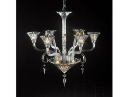Modern Art Deco Crystal Chandelier 3d model
