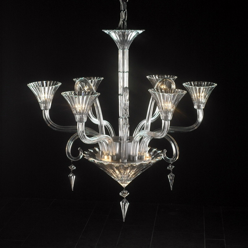 Modern Art Deco Crystal Chandelier 3d model - CadNav