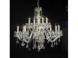 Dining Room Crystal Chandelier 3d model