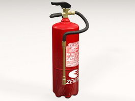 Stored-pressure Fire Extinguisher 3d model