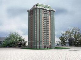 Communist Apartment Block 3d model