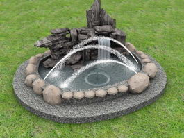 Garden Rock Fountain 3d model