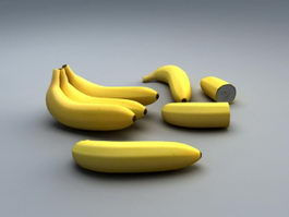 Fresh Bananas 3d model