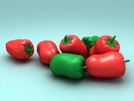 Pimento Pepper 3d model