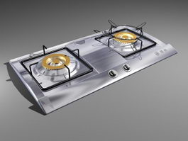 Gas Stove Top 3d model