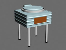 Electric Baking Pan 3d model