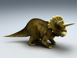 Triceratops Animated & Rig 3d model