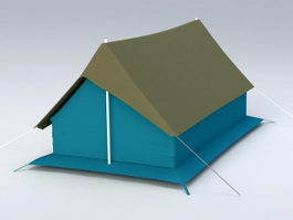 Large Camping Tent 3d model
