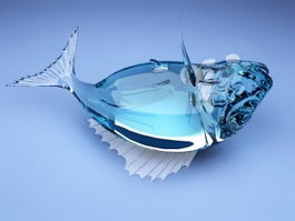 Glass Fish Decor 3d model