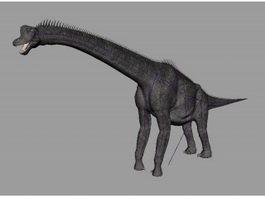 Brachiosaurus Dinosaur Rig 3d model