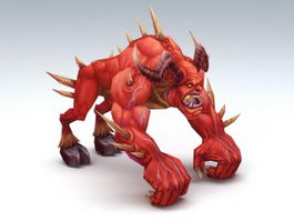 Fire Demon Beast 3d model