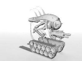 Sci-Fi War Vehicle 3d model