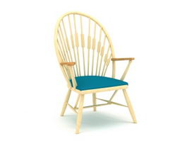 Traditional Windsor Chair 3d model