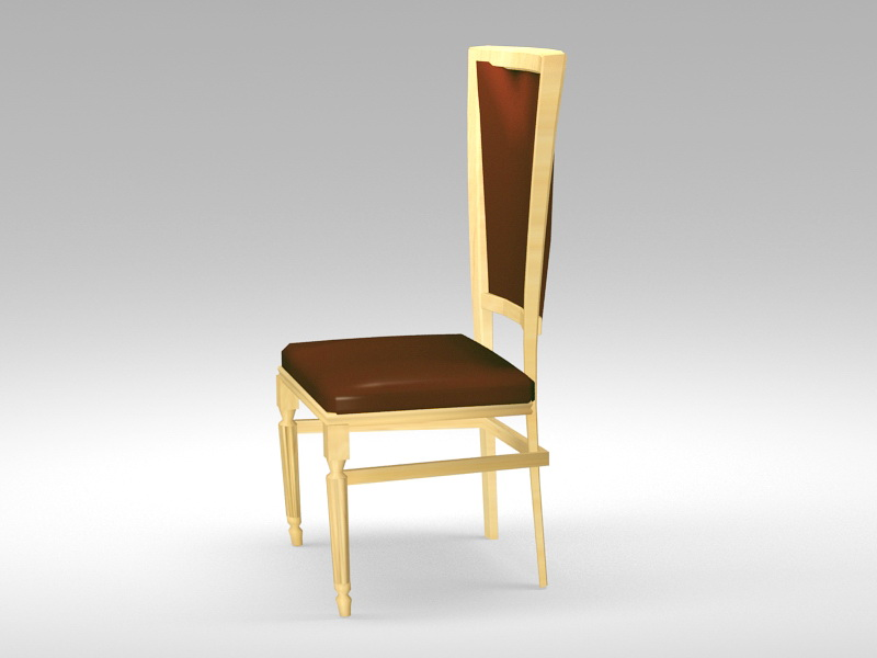 Traditional Dining Chair 3d rendering
