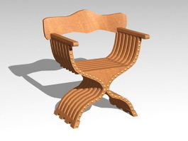 Ancient Rome Curule Seat 3d model