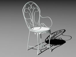 Outdoor Metal Chair 3d model