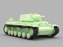 KV-1 Heavy Tank 3d model