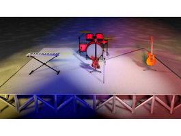 Rock Concert Stage 3d model