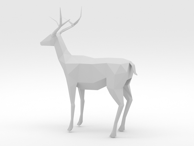 Low Poly Deer 3d model - CadNav