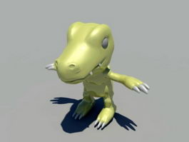Agumon Digimon Adventure 3d model